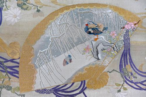 紋織_檜扇紋様